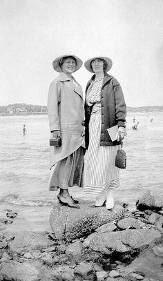 Doris and Friend, 1918