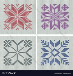 set of norwegian traditional pole-star knitting designs, seamless patterns, elements are logically grouped. Download a Free Preview or High Quality Adobe Illustrator Ai, EPS, PDF and High Resolution JPEG versions.