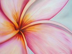 Plumeria Paintings - Eye of the Plumeria  by Kristine Mueller Griffith