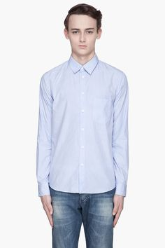 A.P.C. Powder blue pinstripe pajama shirt