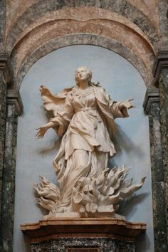 """Chiesa di Sant'Agnese in Agone, Roma (y) - """"Saint Agnes on the Pyre by Ferrata"""""""