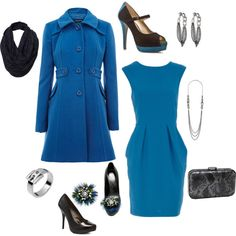 Blue on blue.. This is exactly how I would look as a housewife lol.