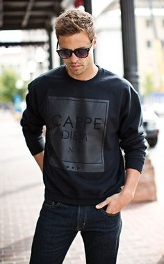 Black Crew Neck Sweater with Sunglasses for the Classy Man — Men's Fashion Blog - #TheUnstitchd