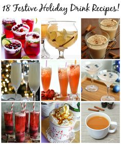 Festive Holiday Drinks: a collection of easy-to-make alcoholic and non-alcoholic holiday drink recipes!