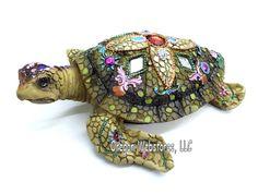 Mosaic Large Sea Turtle Figurine