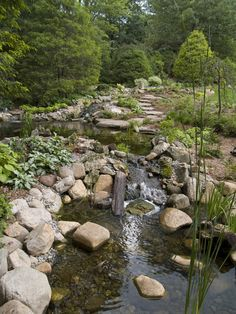 Landscape water feature design