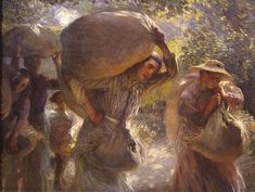 Sir George Clausen, Gleaners Coming Home 1904  © The estate of Sir George Clausen  View full screen