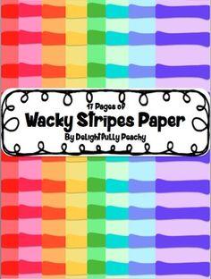 Wacky Striped Digital Paper Freebie!!