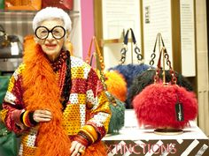 Iris Apfel, The 'Rare Bird Of Fashion', Debuts 'Extinctions' Handbag Line (PHOTOS)