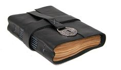 When something can be read without effort, great effort has gone into its writing. ~Enrique Jardiel Poncela    For the Grad!  Black Leather Journal with tea stained paper.  $36.00
