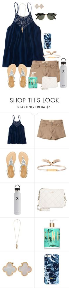 """""""I can't wait for summer break!!!!"""" by zoejm ❤ liked on Polyvore featuring Aéropostale, Hollister Co., Chloé, Hydro Flask, Kate Spade, Forever 21, Victoria's Secret, Van Cleef & Arpels and Ray-Ban"""