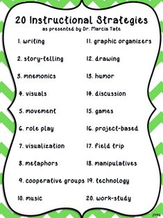 20 Instructional Strategies that grow dendrites as worksheets do not -  Try using these strategies!