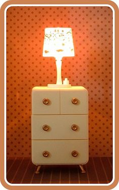 Re-Ment Lamp and Dresser