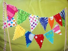 Items similar to Cake Bunting Circus Theme multi colored polka dots stripes and swirls, kids birthday cake topper carnival cake decoration on Etsy Circus 1st Birthdays, Circus Birthday, Circus Theme, Circus Party, Felt Bunting, Cake Bunting, Fabric Bunting, Buntings, Cute Birthday Ideas