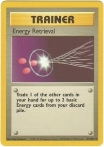 Pokemon Basic Uncommon Card - Trainer Energy Retrieval 81/102