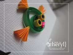 ~ a paper {life}: ~ father's day memory card {quilled fish}