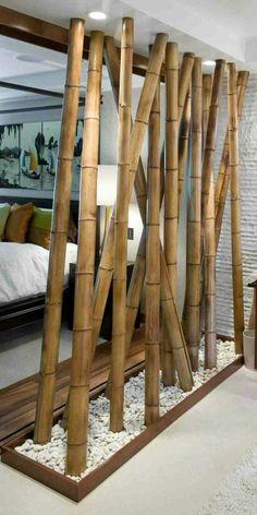Bamboo room divider …