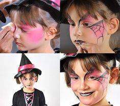 Sierra's witch costume – facepaint