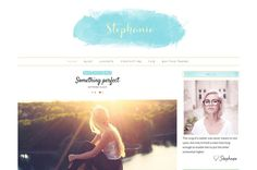 Feminine Wordpress Theme - Stephanie ~ WordPress Blog Themes on Creative Market
