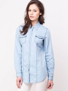 Lee Denim Shirt With Double Flap Pockets buy from koovs.com