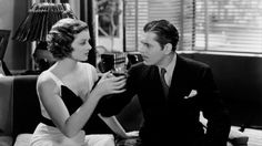 """Myrna Loy and Warner Baxter in """"Penthouse"""" (W.S. Van Dyke, 1933) - The mob frames a lawyer for murder, so he enlists a call girl's help in finding the real killer."""