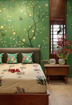 a hand painted bedroom wall - a hand painted bedroom wall - a hand painted bedroom wall