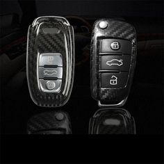 ABS Remote Flip Key Cover Case Smart Car fold Remote Key Case Protection Key Bag Shell For Audi A3 A4 A5 A6 Q3 Q5 Q7 S5 S6 A7 A8
