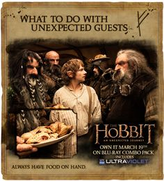 Home in the Shire: Having unexpected guests can be stressful, especially when they are hungry! Keep easy-to-prepare meals like pasta on hand, or make extras of your favorite meals and freeze them, to always have dinner at the ready. Mixing juice with soda water makes for refreshing drink for guests of any size.  And, of course, serving by candlelight makes any meal special.