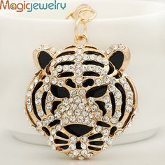 Cute Crystal Leopard Head Key chains Ring Fashion Rhinestone Animal Keychain Keyring For Women Gift Purse Charms Pendant Jewelry Key Chain Rings, Key Chains, Lovers And Friends, Fashion Rings, Pendant Jewelry, Gifts For Women, Jewelry Accessories, Dumpster Diving, Bangles