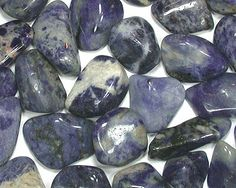 sodalite: throat Chakra, logic, intellect, efficiency, truth of emotions, fellowship and commonality in groups