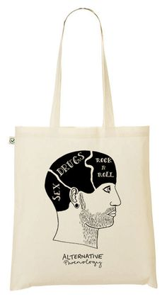 Alternative phrenology head  sex and drugs and rock n roll!