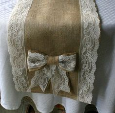 Burlap and lace runner, burlap runners for weddings and receptions