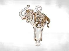 Clear and Gold Elephant Egyptian Glass Christmas Tree Ornament * You can get additional details at the affiliate link Amazon.com.