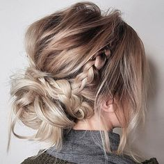 (@number4haircare) #braids #updo #messy #prettyhair #hairideas #weddinghair