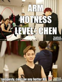 Arm Hotness : Chen <3  omg his arms *-*