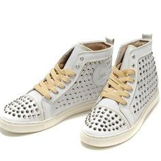 France Christian Louboutin Clout eacutes Sneaker Louis Blanc