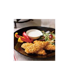 Crunchy Chicken Fingers with Coleslaw