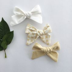 Jane Bow SetWhiteGold DiamondsGold by AddalynJoAndCo on Etsy