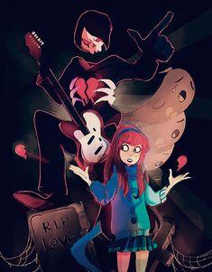 mystery skulls + gravity falls robbie + mabel sad love story + emo songs