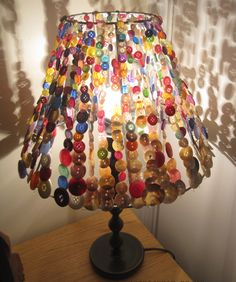 Fun lampshade made with buttons