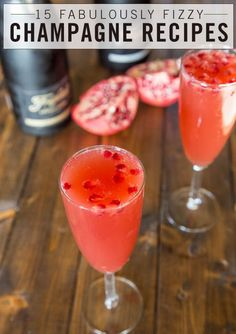 Next time you pop open a bottle of bubbly, don't just grab a couple of flutes and chug it down. There are just too many fabulous things you can do with that champagne! From fantastic cocktails to delectable desserts to savory dishes, champagne is ready for any kind of party. Bring on the bubbly!