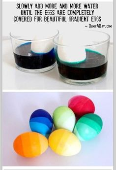 Doing any Easter crafts with the kids? Here's a trick for painting eggs.