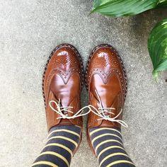 Heinrich Dinkelacker  ちょっとだけ仕事してきます #heinrichdinkelacker #shoes #mensshoes #cordovan #sotd #shoesoftheday #ハインリッヒディンケラッカー #ハインリッヒディンケルアッカー #紳士靴 #革靴 #コードバン