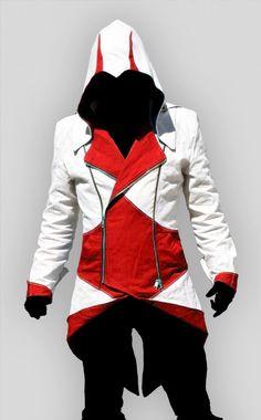 Assassins Creed III Red Hoodie/Jacket