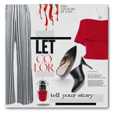The color of life - contest entry by tanyaf1 on Polyvore featuring polyvore fashion style Reem Acra Jonathan Simkhai Chan Luu Tim Holtz clothing