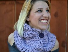 The Northerner crochet infinity scarf winter cowl by ValkinThreads, $97.00…