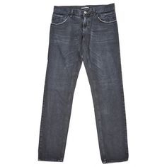 Pre-owned Givenchy Straight Jeans ($144) ❤ liked on Polyvore featuring men's fashion, men's clothing, men's jeans, black, men clothing jeans, mens faded jeans, mens denim jeans, mens zipper jeans and mens straight jeans