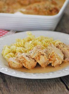 poulet, vin blanc, parmesan, crème, crème de parmesan, paprika