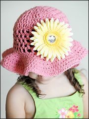 This Sofie Floppy Hat crochet pattern is quick and easy and can be embellished by clipping on different flowers for a variety of looks! Crochet pattern includes 4 sizes: 0-6 months, 6-months to 2 years, child 3-8 and teen/adult.