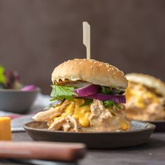 Chicken Rotel Sandwiches are the ultimate way to tailgate for the Super Bowl! These Slow Cooker Rotel Dip Chicken Sandwiches are the perfect mix of flavors. Spicy Cheesy Chicken Sandwiches made in the crock pot. So easy and so addicting! Cheesy Chicken, How To Cook Chicken, Rotel Dip, Pulled Chicken Sandwiches, Ranch Chicken Casserole, Crock Pot Cooking, Crock Pots, Slow Cooker Recipes, Crockpot Recipes